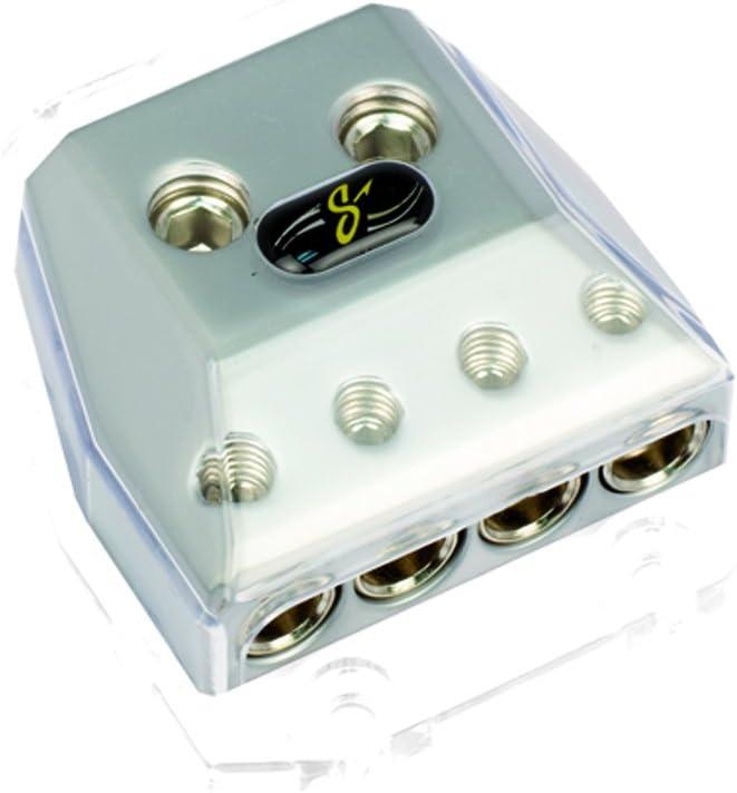Stinger SHD821 HPM Series MANL//Midi Fused Power Distribution Block with Satin Chrome Finish