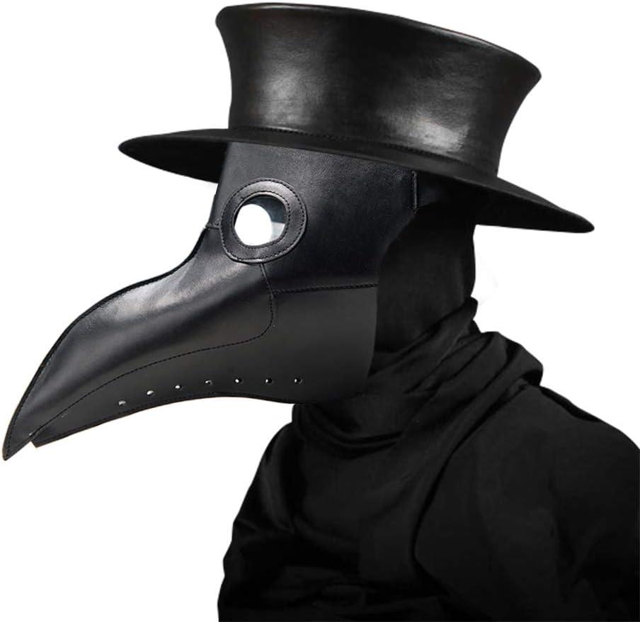 Máscara de Doctor Plaga, disfraz de Halloween, estilo steampunk, gótico, cosplay retro, pájaro, pico largo, imitación de pájaro, máscara de pájaro, pico de gas, disfraz, de Womdee
