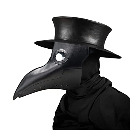 Umiwe Mascara Peste, Halloween Scary Mask Plague Bird Doctor Nariz Cosplay Fancy Gothic Steampunk Retro