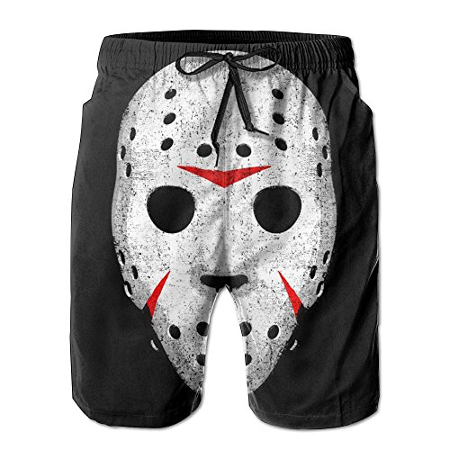 New Cartoon Fashion Horror Movie Maniac Shorts Swim Trunks Casual Shorts For Man