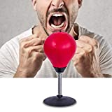 Simplistic Plus Stress Buster Desktop Punching Ball Super Strong Suction Cup, Pump Included - Just Punch Me!