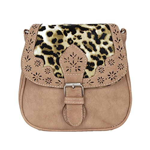 Shoulder Khaki Handbag Light PU Women Pattern Vintage Purse Bag Small Hollow Tote Leather Classic zXxqxBO