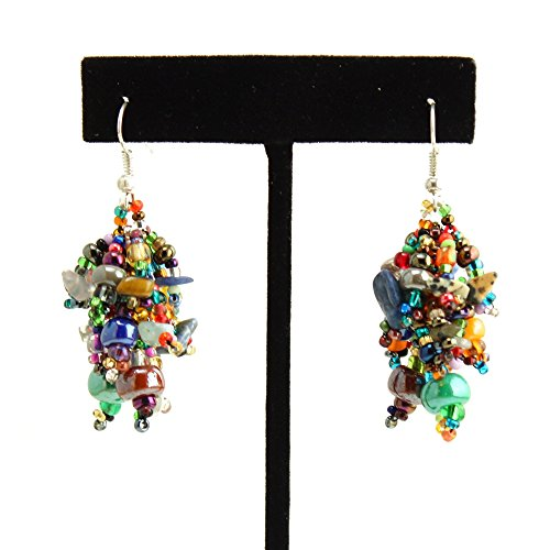 (Enchanted Imports Confetti Beaded Drop Earrings, Handmade in Guatemala (Multi-Color))