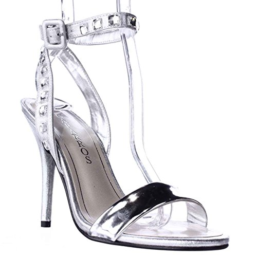Caparros Cassidy Jeweled Ankle Strap Dres Sandals - Silver Metallic, 7 US