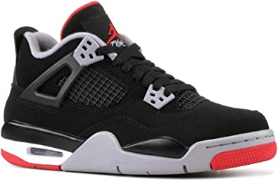 various styles purchase cheap exclusive shoes Amazon.com | Nike Air Jordan Retro 4 Bred Gade School Lifestyle ...