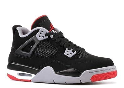 5f202a00e4a92 Amazon.com | Jordan Air 4 Retro (GS) (Black/Fire Red-Cement Grey ...
