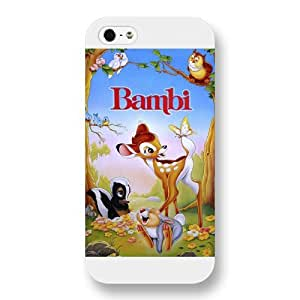 Customized White Frosted Disney Cartoon Movie Bambi iPhone 5 5s case