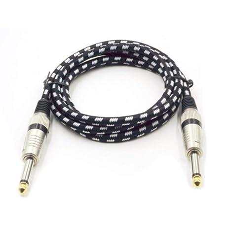 Cable de Guitarra eléctrica Super Largo de 3 Metros Profesión Cable de Instrumento Musical Cable blindado de bajo Ruido para Guitarra