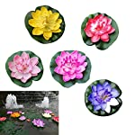 Vosarea-5pcs-Artificial-Floating-Water-Lily-EVA-Lotus-Flower-Pond-Decor-10cm-RedYellowBluePinkLight-Pink