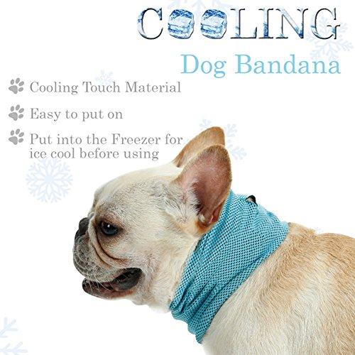 Yinrunx Instant Cooling Pet Bandana Dog Scarf Bulldog Summer Cooling Towel Wrap Dog Collar