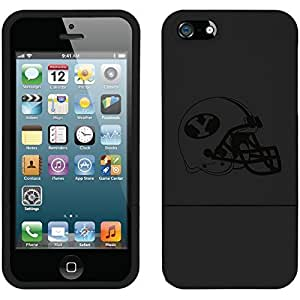 fahion caseiphone 6 4.7 Black Slider Case with Brigham Young University helmet Design