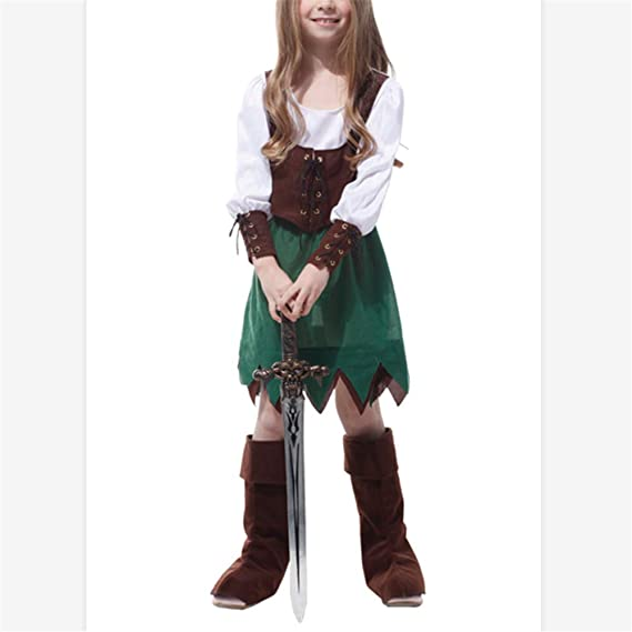 ZHAOXUAN Niños Robin Hood Peter Pan Disfraz de Pirata Carnaval ...