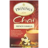 Twinings of London Chai French Vanilla Tea Bags, 20 Count (Pack of 6)