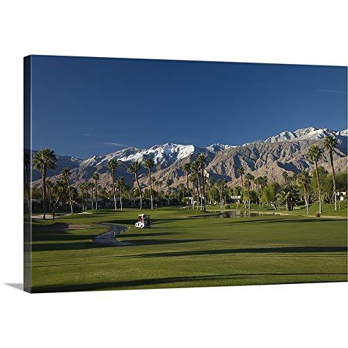 Premium Thick-Wrap Canvas Wall Art Print Entitled Desert Princess Country Club, Palm Springs, Riverside County, California ()