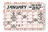 Orange Geometric Pattern Decorative Wall Calendar Planning Board - Reusable Easy Clean