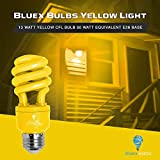 4 Pack BlueX CFL Yellow Bug Light Bulbs 13W