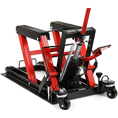 Buy Smartxchoices Red/Black 1500 lbs Motorcycle ATV Hydraulic Scissor Jack Lift Stand Quad Dirt Street Bike Hoist