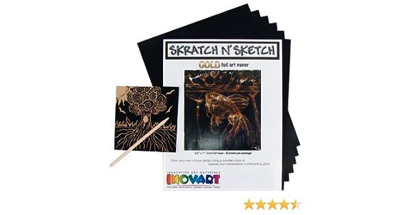 50 Sheets Inovart Skratch n Sketch Multicolor Scratch Paper