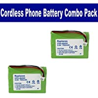 Toshiba DKT2304-CT Cordless Phone Combo-Pack includes: 2 x EM-CPH-464Q3 Batteries