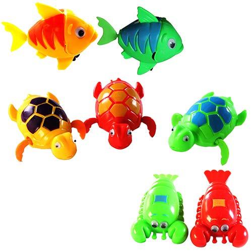 Slendima Baby Paddle Wash Bath Bathing Toy Wind-up Animals Shape Toys Christmas Xmas Gift for Kids ()