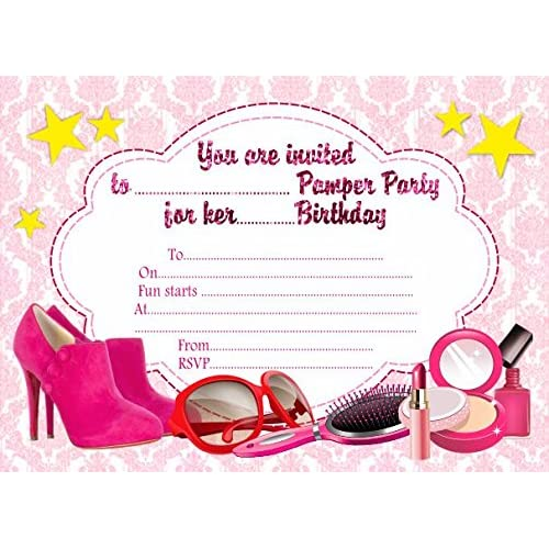 pamper party invitations amazon co uk