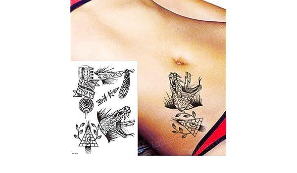 Handaxian 3pcsTatuaje Femenino Negro Tatuaje Pegatina pájaro ...