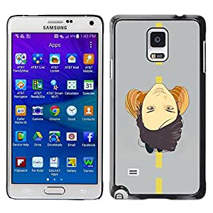 Caucho caso de Shell duro de la cubierta de accesorios de protección BY RAYDREAMMM - Samsung Galaxy Note 4 SM-N910F SM-N910K SM-N910C SM-N910W8 SM-N910U SM-N910 - Face On Road