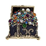 Heidi Daus Treasure Trove Black Enamel and Crystal Pin BEAUTIFUL YOU WILL LOVE IT!