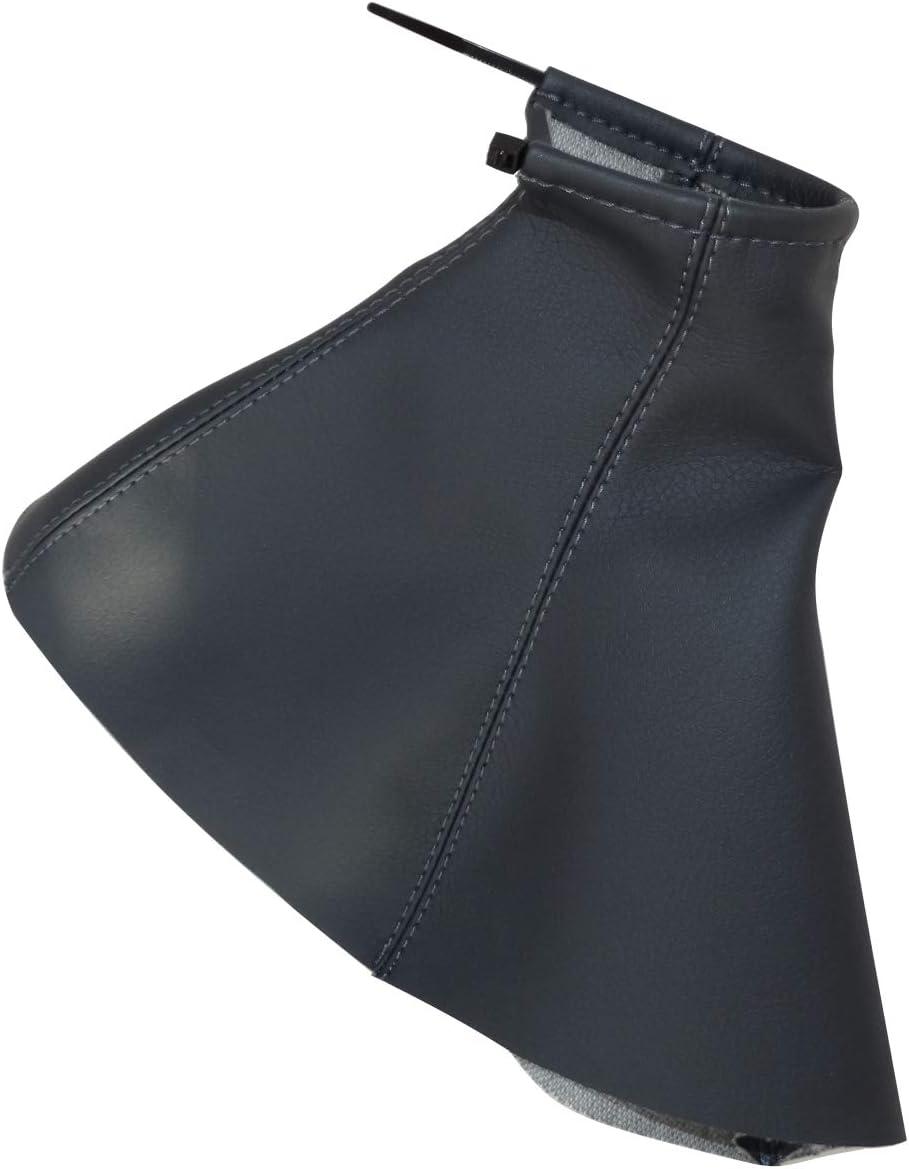 Funda para palanca de cambios de piel sint/ética con costuras de colores variables AERZETIX gris oscuro