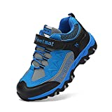 Boys Girls Shoes Trail Running Hiking Sneakers Athletic Tennis Shoes Wide Blue Size