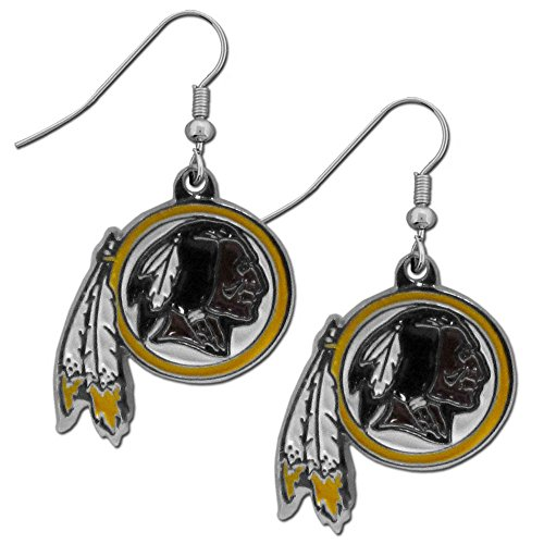NFL Washington Redskins Chrome Dangle Earrings ()