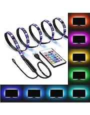 AutoWT Tiras de Luces LED RGB con Mando a Distancia USB Multicolor Retroiluminación Tiras de LED Kit Completo para TV PC Decoración del Partido Hogar