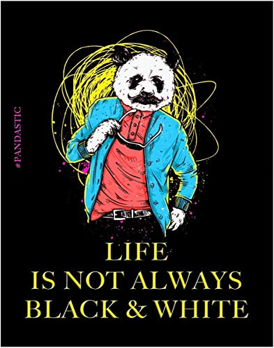 Life is not always Black & White - Colorful Panda Print- 11x14 Unframed Pop Wall Art - Gift for Teens and Adults Passionate about Life. Looks Great in Dorm, Bedroom, -