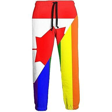 NA Canada Flag LGBT Flag Pantalones de chándal Largos para Hombre ...