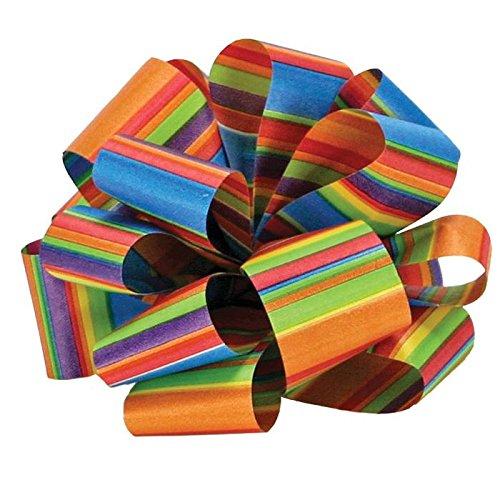 Berwick AMW9 99 Offray Flora-Satin Print Crazy Stripe Ribbon, 1-7/16
