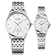 TIDOO Lover Watch Casual Watches For Men Women Ladies Dress Stainless Steel Strap Analog Wristwatches Relogios Reloj Horloges