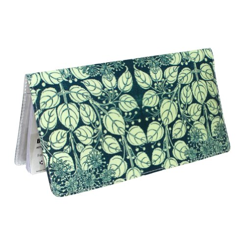 Blue Floral Checkbook Cover