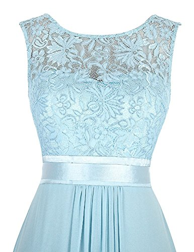 Damen Elegant Brautjungfernkleider Spitze Ballkleid Cocktailkleid Beyonddress Silber Lang Abendkleider PqZZp