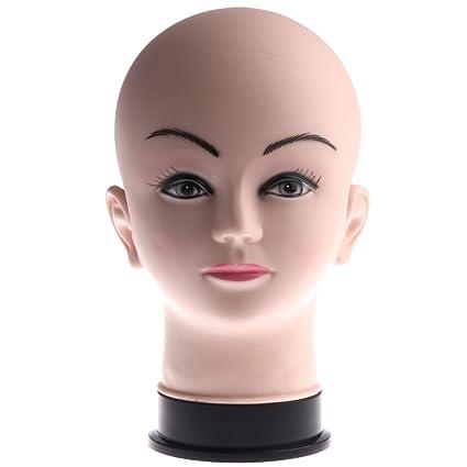 Sharplace Tête Mannequin Femme en PVC Présentoir Perruque Support Chapeaux Porte  Lunettes Affichage Stand - Tête ec44bb89bec8