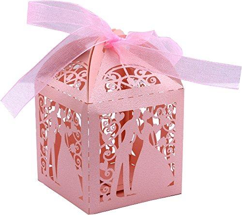 Amazon.com: Driew - Caja de 50 cajas de caramelos para boda ...