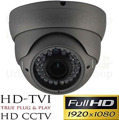 Urban Security Group Panasonic Chipset 2MP 1080P @ 30FPS Dome Security Camera : 6-in-1 BNC CCTV Format HD-SDI, EX-SDI, HD-TVI, HD-CVI, AHD + Analog : 2.8-12mm Vari-Focal Lens, IR LEDs, Business Grade