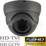 USG Panasonic Chip 2MP 1080P @ 30FPS Dome Security Camera : 6-in-1 CCTV Format HD-SDI, EX-SDI, HD-TVI, HD-CVI, AHD + Analog : 2.8-12mm Vari-Focal Lens, 36x IR LEDs, Business Grade