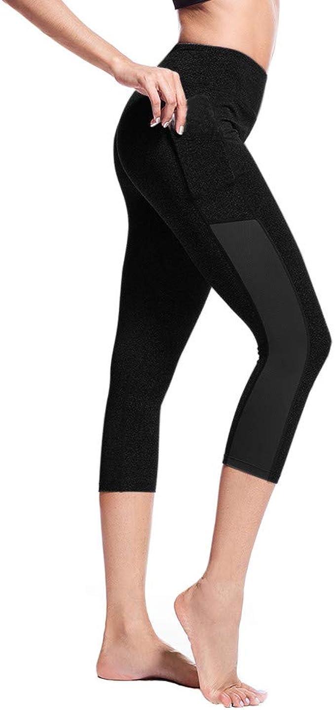 Amazon.com: REDMAKER Pantalones capri de cintura alta con ...