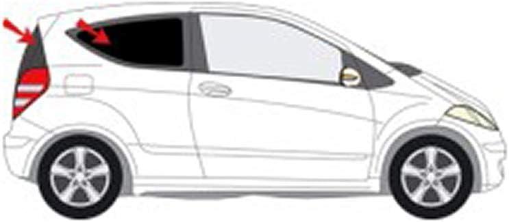 Solarplexius Sonnenschutz Autosonnenschutz Scheibentönung Sonnenschutzfolie Mercedes A Klasse W169 3 Türer Bj 04 12 Auto