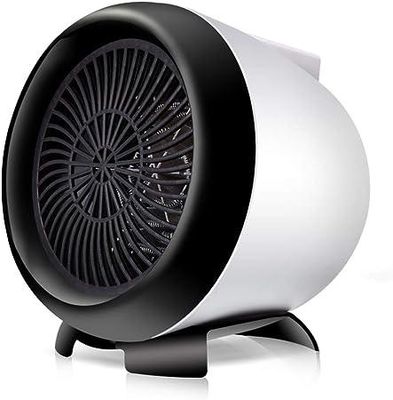 DULPLAY Mini Ventilador calefactor, Para escritorio Uso de interior de oficina Calentar en segundos Portátil Pequeño Calentador personal Ajustable Oscilante electroventilador Para el hogar-Blanco 11.8x14cm(5x6inch): Amazon.es: Hogar