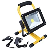 Hotrose 20W Flood Light Portable Rechargeable LED Work Light for Camping