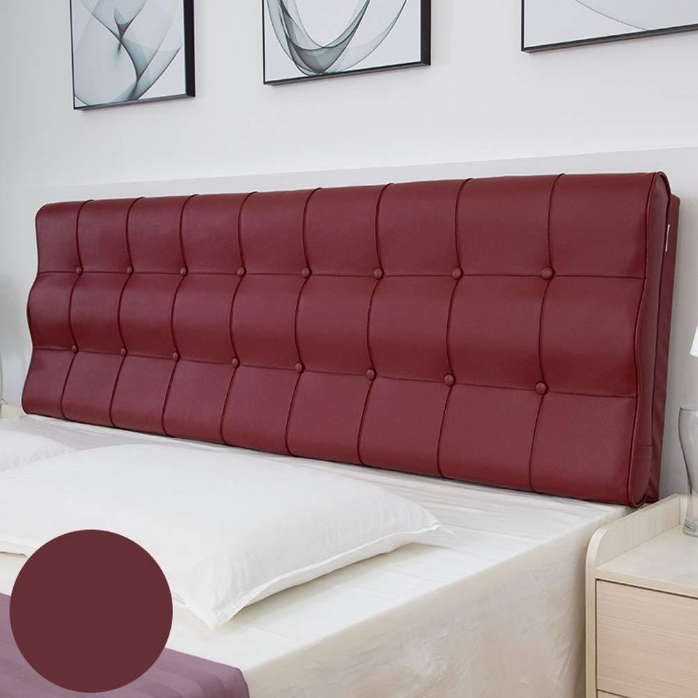 No Bed Soft Pack Leder Double Washable Tatami Großes Kissen Bett Kissen Große Rückseite Bettbezug S Oberfläche, für Bett ohne Kopfteil Multi-Color Optional ( Color : A , Size : No headboard-180cm )
