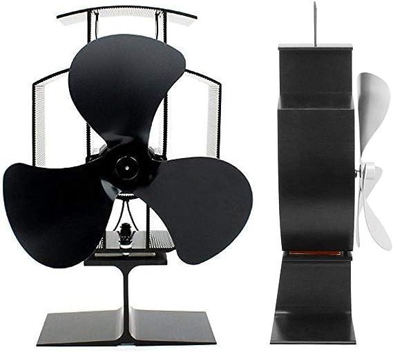 Weyty YL401 Ventilador para estufa de leña, chimenea, ventilador ...
