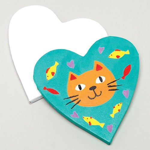 Baker Ross Heart Shaped Canvases (Pack of 2) for Kids Art Projects & Painting ()