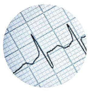alfombrilla de ratón Electrocardiograma - ronda - 20cm